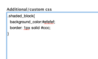 Additional css field