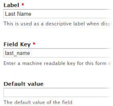 webform field options