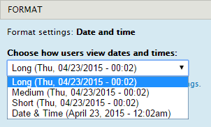 Date and Time values